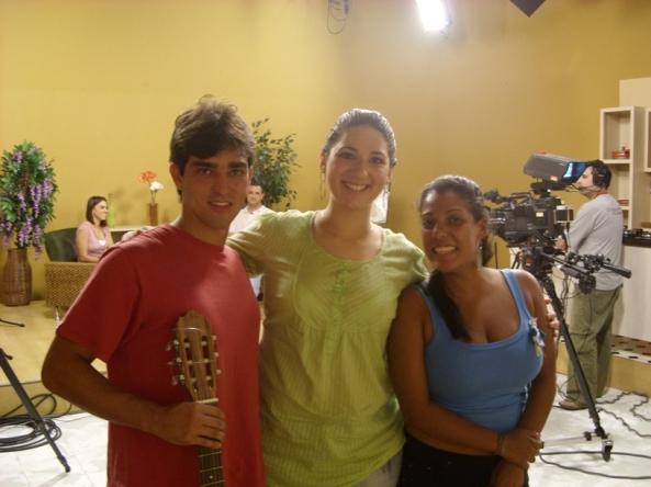 Ricardo Bueno, Carol Chelly e Giovana (Produtora do Programa)